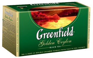 Tea  GREENFIELD golden ceylon 2g x 25tk