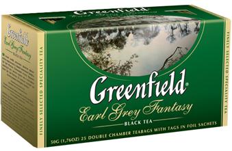 Tea  GREENFIELD earl grey fantasy 2g*25
