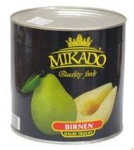 MIKADO Pear halves, 2,65l / 2,5kg /1,5kg