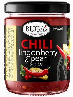 Sauce BUGA'S Chili-Lingonberry-Pear, 170g