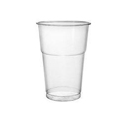 Plastic beercup, transparent, 500 ml, 50 units
