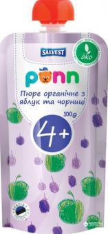 PÕNN Organic blueberry-apple puree 1   g (4 months)