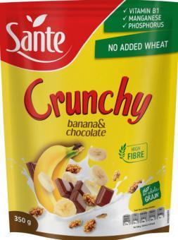 Muesli SANTE crunchy, with banana and chocolate, 350g