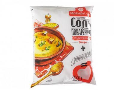 POLESJE Salt Extra iodine plastic bag, fine 1 kg