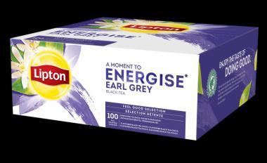 Black tea LIPTON EARL GREY, 100 bags/pack x 1.8 g