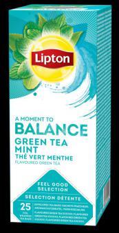 LIPTON Classic Green Tea Mint, 1.6gx25pcs