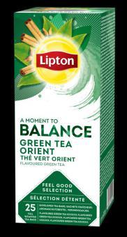 Green tea LIPTON GREEN ORIENT, 25 bags x 1.28 g / pack