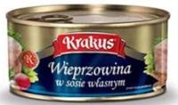 KRAKUS Preserved pork in its own juice, 95%, EO, 300g