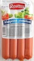 Sausages RAGNOS Klaipedos, 280g
