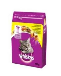 Cat food WHISKAS dry for adult, with chicken, 0,95 kg