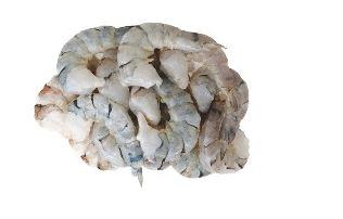 Vannamei Prawns, peeled, deveined, raw, 26/30, 25%, 1kg