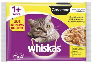 WHISKAS pouch 4-PACK Poultry Selection AMMP Casserole CIJ 4*85g