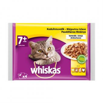 WHISKAS 7+ poultry selection 4x100g