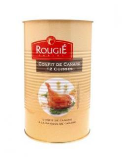 ROUGIE Duck confit - 12 pc, Rougie, with duck fat, tin, 3,825 kg