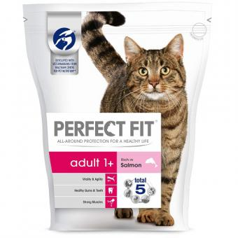 Cat food PERFECT FIT dry salmon, 750g