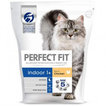 Cat food PERFECT FIT dry for indoor cats with chicken, 750g