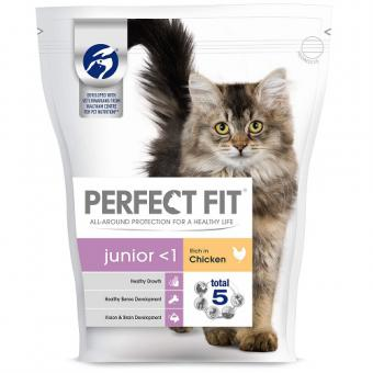 PERFECT FIT Kitten dry cat food, chicken, 750g