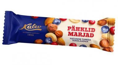 Bar with nuts, berries KALEV, dark chocolate, 44g