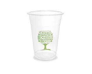 Smoothie cup VEGWARE, Green Tree,, PLA, 480ml, 50psc
