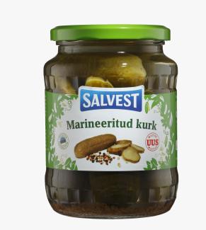 Gherkins SALVEST marinated, 675g
