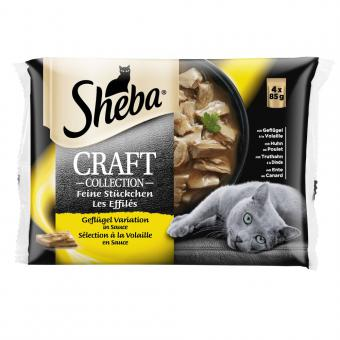 SHEBA Pouch 4-PACK Poultry Selection AMMP Craft 13*4x85g CIG