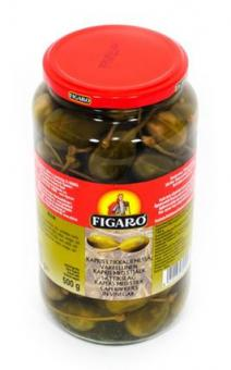 Capers FIGARO with stem in vinegar, 935g/500g