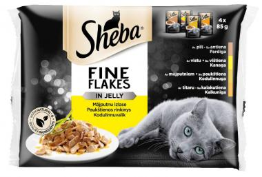 SHEBA pouch poultry selection 4*85g
