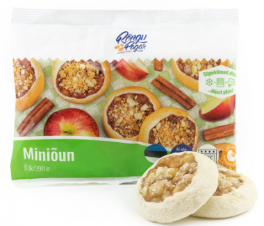 Rõngu Pagar,Frozen mini apple and cinnamon pastry 390g