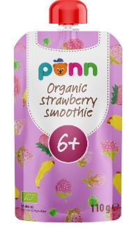 PÕNN Organic Strawberry smuuthie 110g (6 months)
