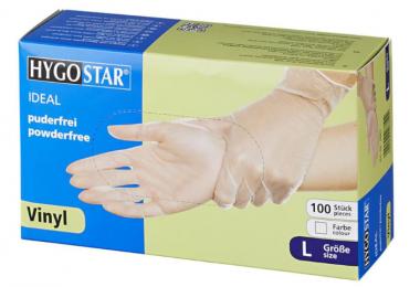 "Hygostar Vinyl gloves ""Ideal "" | powder-free 100 pcs  size L"
