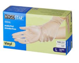 "HYGOSTR Vinyl gloves ""Ideal"" | powder-free 100 pcs Size L white"