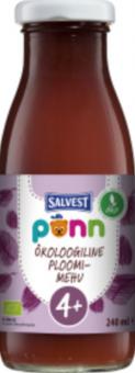 Salvest Põnn Organic Plum drink with pulp 240 ml (4 months)