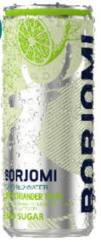 BORJOMI FLAVORED WATER Lime- Coriander  0,33 ALU