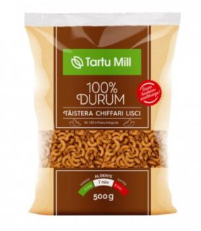 Pasta whole grain Chiffari Lisci, TARTU Mill, 500 g