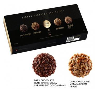 Chocolate truffles collection with spirits drinks cream fillings 140g