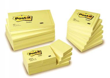 Sticky notes POST-IT, 76x127mm, yellow