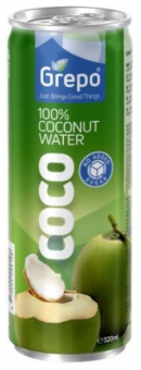 COCONUT WATER (100%), CAN 320 ml, GREPO