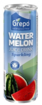Sparkling watermelon juice drink (99%), CAN 320 ML, GREPO