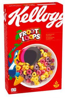 Breakfast cereal KELLOGG'S Froot Loops, 375g