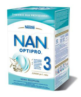 Milk shake NAN OPTIPRO 3 for kids from one year age (2x400g)