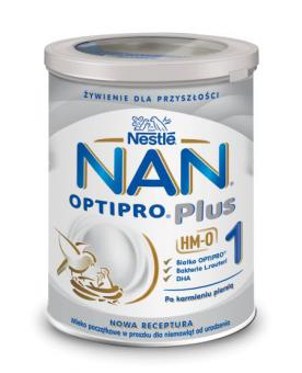 Nourishing MilkNAN OPTIPRO Plus1 TIN for babies from birth 12x400g