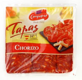 Dried sausage Chorizo, sliced, I class.,  300g