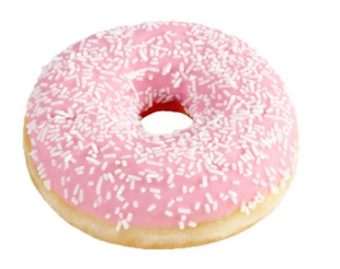 Donut DOTS, with pink glaze, american, frozen, 60 g