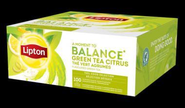 Green tea Lipton, with citrus slices, 1.3gx100 pcs.