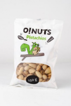 Pistachios O!NUTS roasted and salted, 150 g