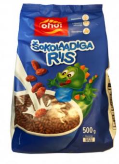 "Breakfast cereal Chocolate rice 500g ""Oho!"""