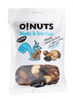 Nut and raisin mix EXTRA O! NUTS, 150 g