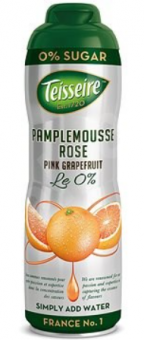 Pink grapefruit syrup without sugar TEISSEIRE, can,  0.6 l