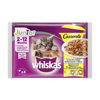WHISKAS pouch 4-PACK Junior Poultry Selection AMMP Casserole CIJ 4*85g