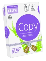 Paper REY COPY A4 80g/m2, 500 sheets/pack